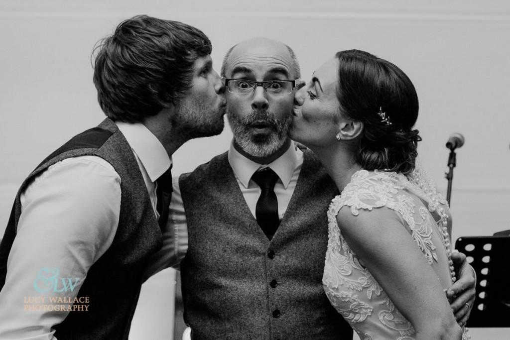 Cheeky kiss for Devon Wedding Singer